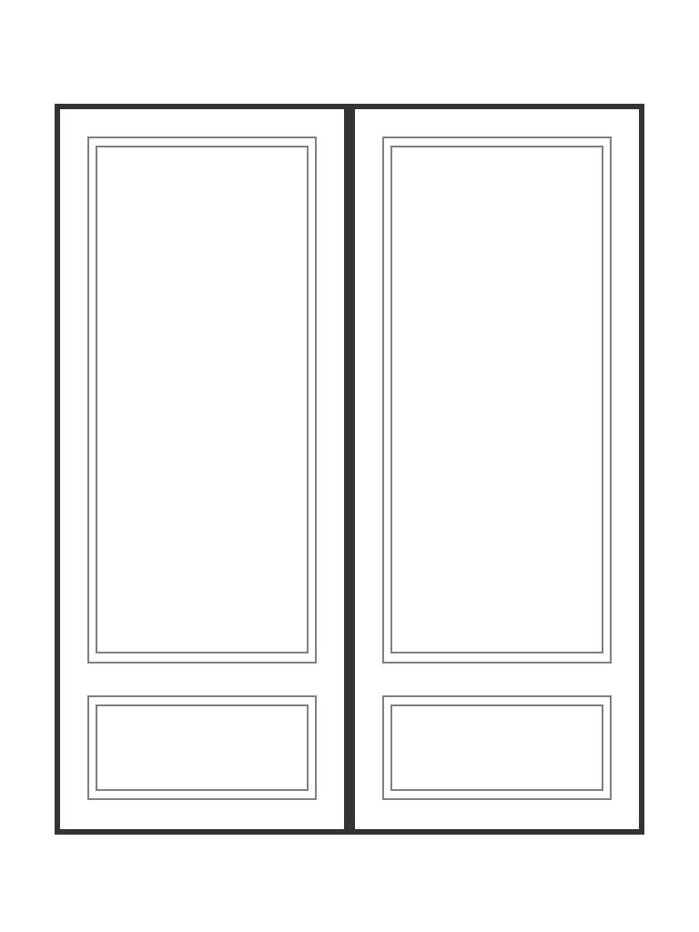 """Double 6' 8"""" doors"""
