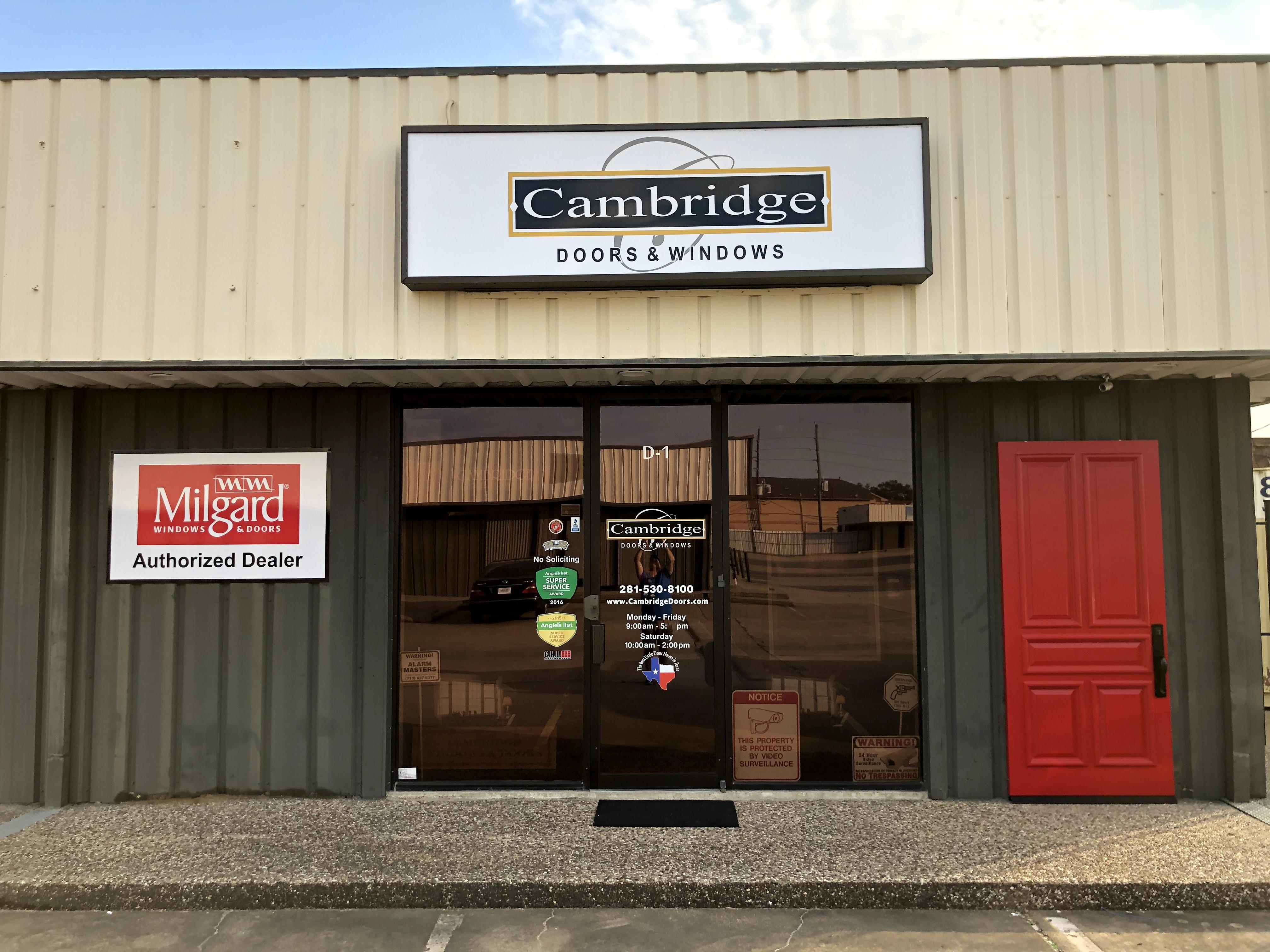 Cambrisge Doors & Windows based in Stafford Texas