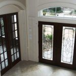 Double front wood entry doors