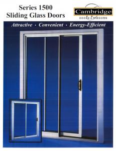 Cambridge Model 1500 Patio Door