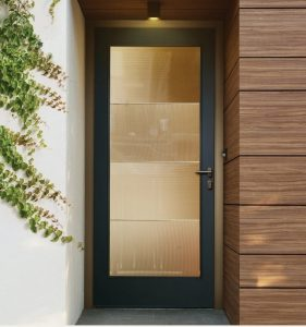 Full View Smooth Fiberglass Painted Door
