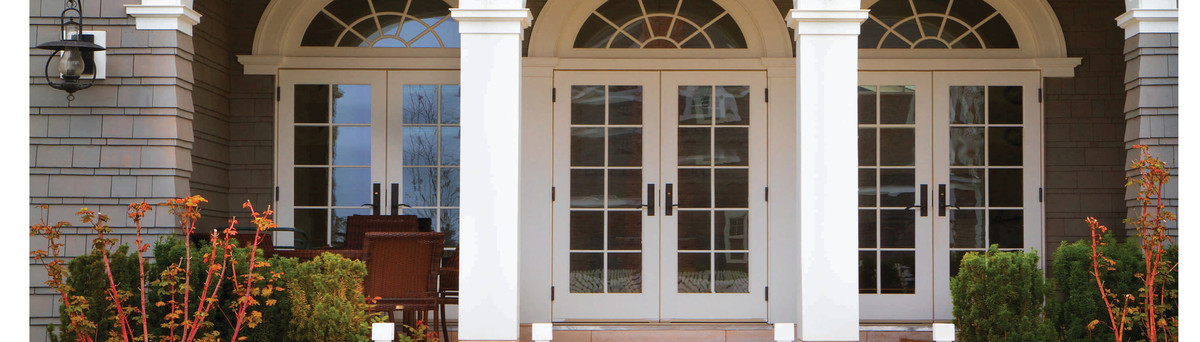 10 Light Smooth Outswing Patio Doors