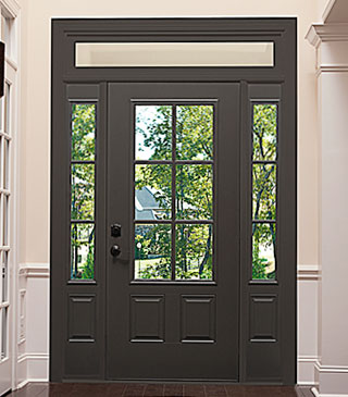 Simulated Divided Six Lite Door & Sidelights