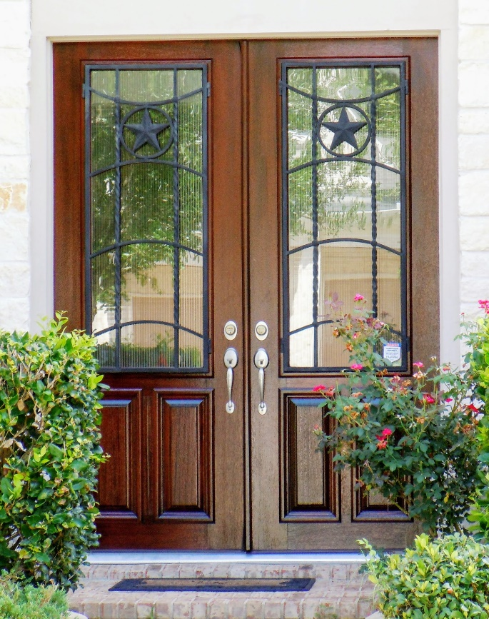 Custom Designed Doors and Complete Custom Entryway Systems with leaded bevel glass