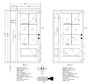 Custom Made Wood Door CAD drawings