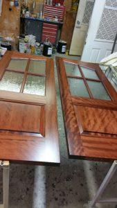 Custom African Mahogany Double Doors