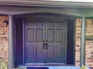 Before – Out Dated Old Entry Doors & Side Glass Panels