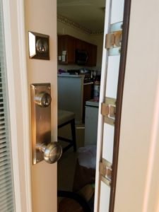 New Door, BlindsIn Glass, Security Plates, Qlon Weather Stripping