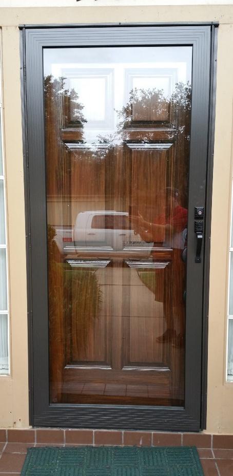 Full View Bronze Storm Door
