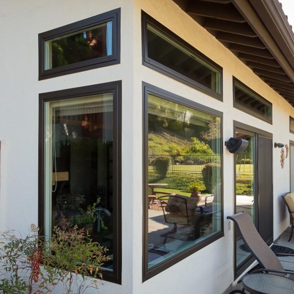 Cambridge bronze vinyl windows