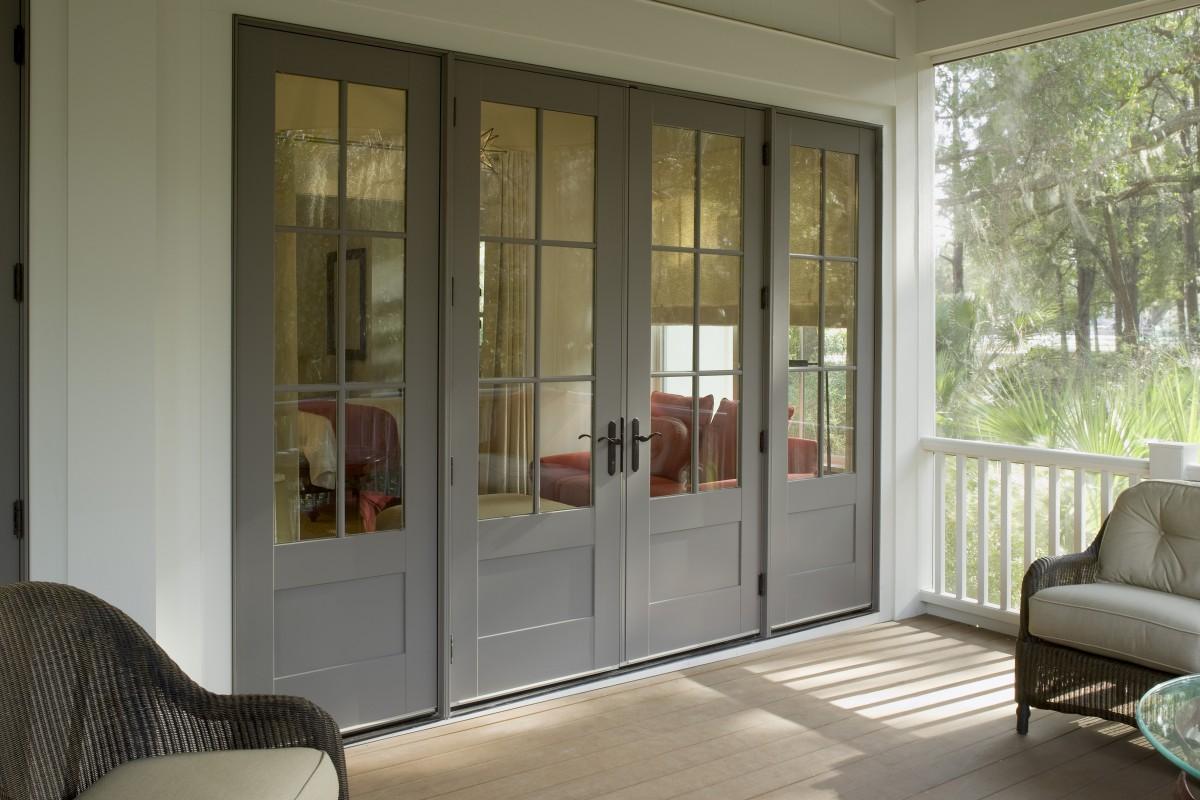 Custom wood patio doors