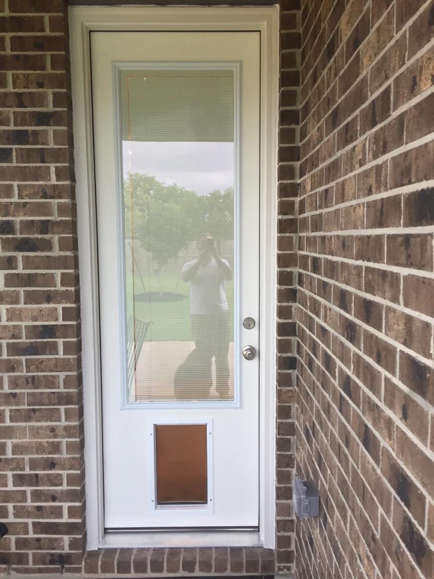 Eight foor tall fiberglass dog door
