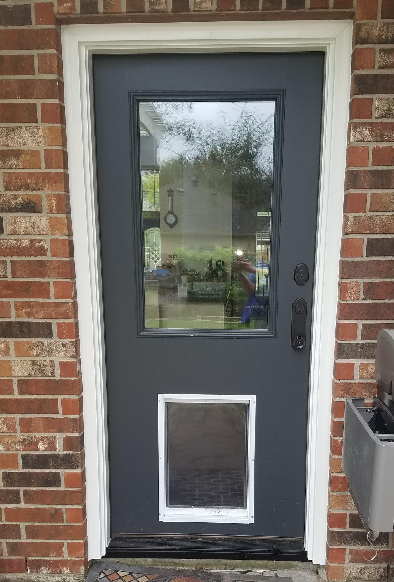 Fiberglass Door with Dog Door